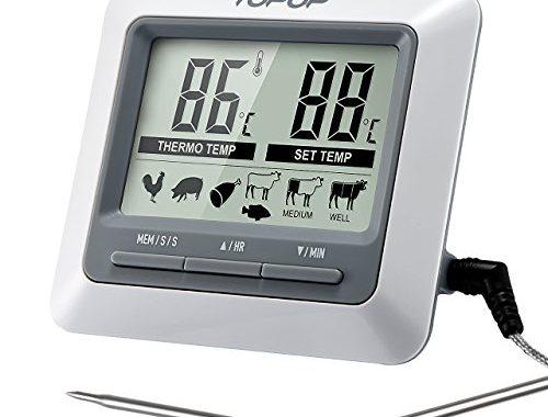 Digital Grillthermometer Fleischthermometer BBQ Thermometer mit LCD für Grill